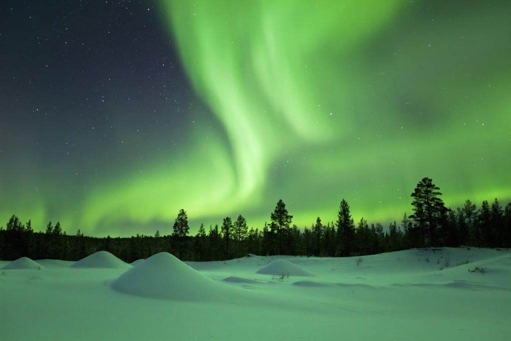 aurora borale, lapponia